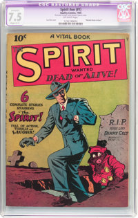 The Spirit #nn (#1) (Quality, 1944) CGC Apparent VF- 7.5 Slight (C-1) Off-white pages