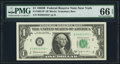 Small Size:Federal Reserve Notes, Fr. 1902-B* $1 1963B Federal Reserve Star Note. PMG Gem Uncirculated 66 EPQ.. ...