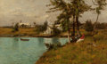 Paintings, William Starbuck Macy (American, 1853-1945). Bermuda. Oil on canvas. 18 x 29-1/2 inches (45.7 x 74.9 cm). Signed lower r...