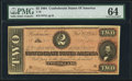 Confederate Notes:1864 Issues, T70 $2 1864 PF-1 Cr. 569.. ...