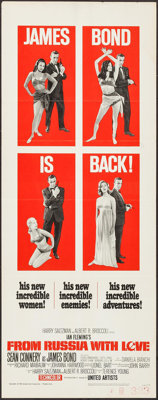 "From Russia with Love (United Artists, 1964). Insert (14"" X 36""). James Bond"