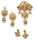 Estate Jewelry:Suites, Victorian Seed Pearl, Gold, Gold-Filled, Yellow Metal JewelrySuite. ... (Total: 3 Items)