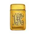 Estate Jewelry:Other , Diamond, Gold Match Safe. ...