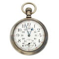 Timepieces:Pocket (post 1900), Waltham 21 Jewel 24-Hour Pocket Watch. ...