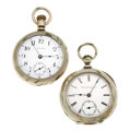 Timepieces:Pocket (post 1900), Waltham & Elgin 18 Size Pocket Watches. ... (Total: 2 Items)