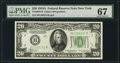 Small Size:Federal Reserve Notes, Fr. 2055-B $20 1934A Federal Reserve Note. PMG Superb Gem Unc 67.. ...