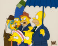 "Animation Art:Production Cel, The Simpsons ""Old Money"" Entire Family Production CelAnimation Art (Fox, 1991)...."