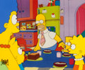 Animation Art:Production Cel, The Simpsons Entire Family Production Cel Animation Art(Fox, 1990s)....
