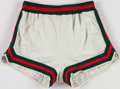 Basketball Collectibles:Uniforms, 1974-75 George Thompson Game Worn Milwaukee Bucks Shorts - WithTeam LOA (Marquette Star)....