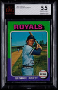 Baseball Cards:Singles (1970-Now), 1975 Topps George Brett #228 BVG EX+ 5.5....