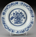 Asian:Chinese, A Chinese Ming Dynasty Blue and White Dish, circa 1368-1644. Marks:(fugui jiaqi mark). 12 inches diameter (30.5 cm). ... (Total: 2Items)