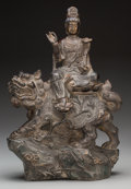 Asian:Japanese, A Japanese Bronze Kannon Bodhisattva, 20th century. 15 inches high(38.1 cm). ...