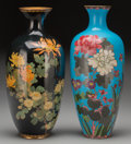 Asian:Japanese, Two Japanese Cloisonné Vases, 20th century. 12-1/8 inches high(30.8 cm). ... (Total: 2 Items)