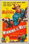 """Movie Posters:Western, Winning of the West & Other Lot (Columbia, 1953). One Sheets (2) (27"""" X 41""""). Western.. ... (Total: 2 Items)"""