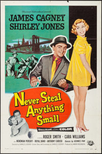 "Never Steal Anything Small & Other Lot (Universal International, 1959). One Sheets (2) (27"" X 41""). Crime..."