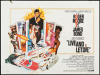 "Live and Let Die (United Artists, 1973). British Quad (29.75"" X 39.75""). James Bond"