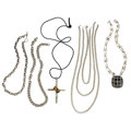 Estate Jewelry:Necklaces, Sterling Silver, Vermeil Jewelry. ... (Total: 5 Items)