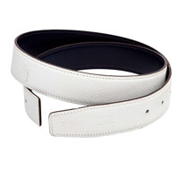Hermes 80cm White Epsom & Navy Calf Box Leather Reversible Belt