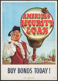 """America's Security Loan (U.S. Government Printing Office, 1948). Bonds Poster (18.5"""" X 26""""). Miscellaneous..."""