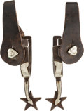 Western Expansion:Cowboy, Rare Spurs by Kelly Brothers and Parker 1912-1919....
