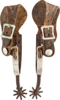 Western Expansion:Cowboy, Single-Mounted Shipley Spurs....