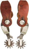 Western Expansion:Cowboy, Crockett Single-Mounted Spurs....