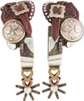 Western Expansion:Cowboy, Gold and Silver-Mounted Spurs by Jerry Cates....