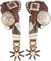 Gold and Silver-Mounted Spurs by Jerry Cates