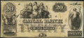 New Orleans, LA- New Orleans Canal & Banking Compy. $20 18__ Remainder