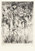 Prints, Jim Dine (American, b. 1935). Superb Lilies from A Temple of Flora, 1978. Etching and drypoint with hand coloring on Fab...
