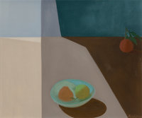 Helen Lundeberg (American, 1908-1999) Fruit in Space, 1953 Oil on canvas 20 x 24 inches (50.8 x 6