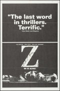 "Movie Posters:Foreign, Z (Cinema 5, 1969). One Sheet (27"" X 41"") Black Style. Foreign.. ..."