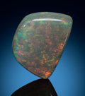 Gems:Cabochons, Cyrastalline Opal - 10.89 Ct.. Mintabie opal field, Mintabiedistrict. North West Province. South Australia.A...