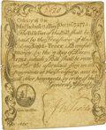 Colonial Notes:Massachusetts, Massachusetts Bay December 7, 1775 8 Pence Fr. MA-174. PCGS Very Fine 20 Apparent.. ...