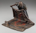 Paintings, A Franz Bergman Cold Painted Bronze Figure: The Rug Seller, late 19th century. Marks: (amphora-B), 4941, GESCH...