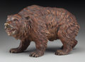 Paintings, An Austrian Cold Painted Bronze Brown Bear, late 19th century. Marks: GESCHÜTZT. 7-1/2 inches long (19.1 cm)...