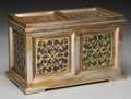 Decorative Arts, French:Other , A French Bronze and Hardstone Paneled Table Casket, 19th century inpart. 6-7/8 h x 11-1/4 w x 6-1/8 inches deep (17.5 x 28.... (Total:2 Items)