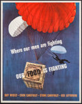 "Movie Posters:War, World War II Propaganda (U.S. Government Printing Office, 1943).OWI Poster # 35 (22"" X 28""). ""Where Our Men Are Fighting."" ..."
