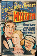 "Movie Posters:Comedy, Mississippi (Paramount, 1935). One Sheet (27"" X 41""). Comedy.. ..."