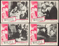 "Movie Posters:Foreign, Rififi (UMPO, 1955). Lobby Card Set of 4 (11"" X 14""). Foreign.. ... (Total: 4 Items)"