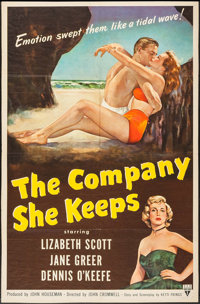 "The Company She Keeps (RKO, 1951). One Sheet (27"" X 41""). Drama"