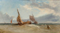 James Edwin Meadows (British, 1828-1888) An Approaching Storm at Sea, 1867 Oil on canvas 18-1/4 x