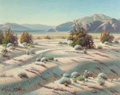 Fine Art - Painting, American:Contemporary   (1950 to present)  , Paul Grimm (American, 1891-1974). Colored Sand-Dunes, 1964.Oil on canvas. 24 x 30 inches (61 x 76.2 cm). Signed lower l...
