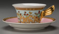 Ceramics & Porcelain, A Rosenthal Versace Le Jardin Porcelain Cup and Saucer Service for Six, 20th century. Marks: Rosenthal, (log... (Total: 12 Items)