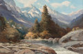 Fine Art - Painting, American:Modern  (1900 1949)  , Robert William Wood (American, 1889-1979). Snake River. Oilon canvas. 24 x 36 inches (61 x 91.4 cm). Signed lower left:...