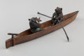 Sculpture, An Austrian Cold Painted Bronze Figural Group: Courting Bears in Rowboat, 20th century. 5-3/4 inches long (14.6 ...