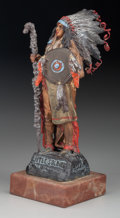 Bronze:European, A Cold Painted Bronze Figure on Marble Base after Carl Kauba:Little Soldier, mid to late 20th century. Marks: ...