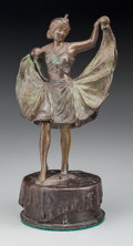 Paintings, An Austrian Patinated Bronze Erotic Figure after Franz Bergman: Dancing Girl, late 19th century. 5-1/4 inches hi...