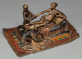 Paintings, An Anton Chotka Austrian Cold Painted Bronze Figural Group: Cleopatra and Servants, circa 1900. Marks: Chotka. 4...