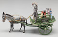 Bronze:European, A Franz Bergman Cold Painted Bronze Figural Group: CatCarriage, Vienna, Austria, late 19th century. Marks: (amp...